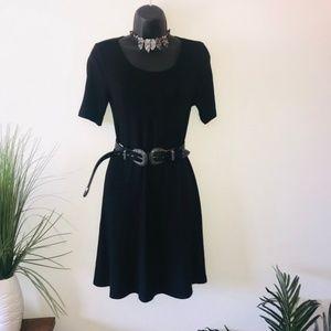 Forever 21 Black Knit Swing Dress